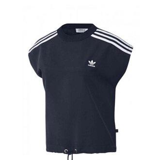 【EST S】Adidas 3-Stripe T-Shirt BR4442 短版 無袖 女款 深藍 H0921