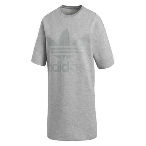【EST S】Adidas Originals Logo Dress CD6912 長版 洋裝 三葉草 女款 灰 I0205