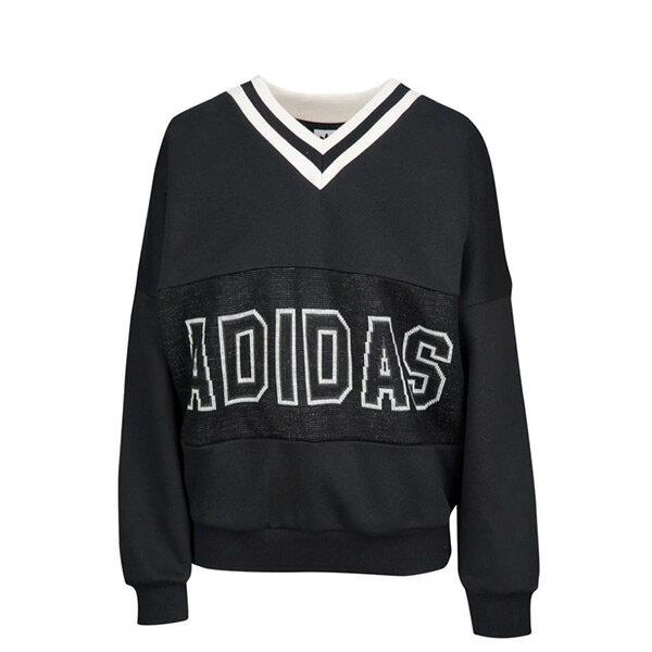 【ESTS】AdidasAdibreakVarsitySweaterCE0998大學Tee女黑白I0118