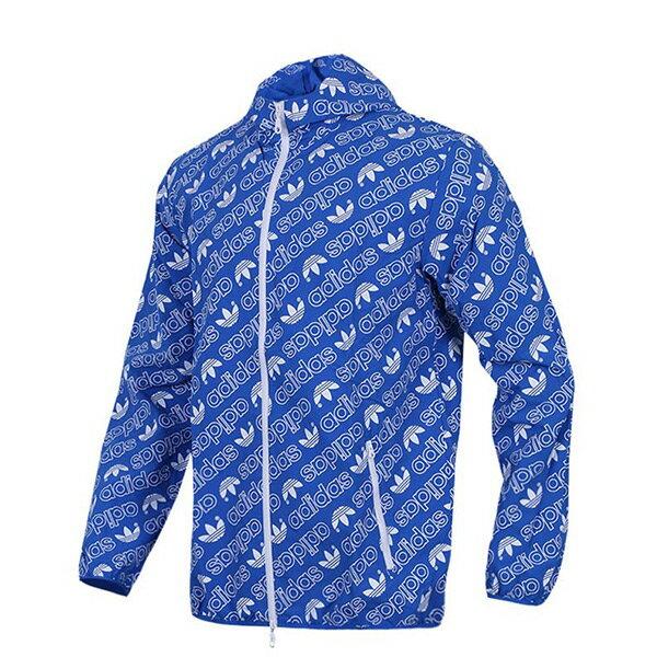 【EST S】Adidas Originals AOP Windbre CE1550 滿版 小Logo 風衣外套 藍 I0409