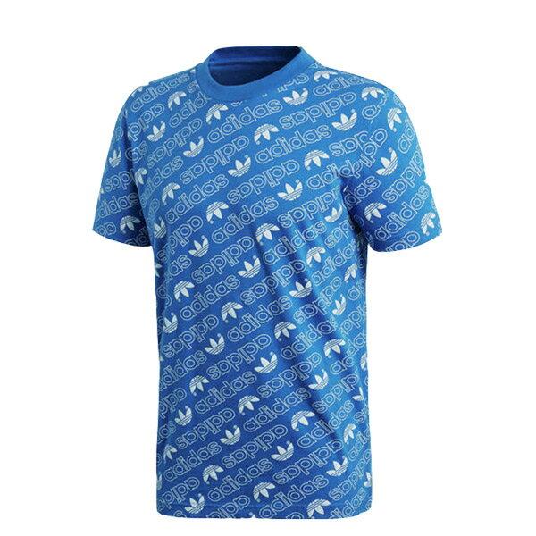 【ESTS】AdidasOriginalsT-shirtAOPTeeCE1557滿版小Logo短Tee藍I0409