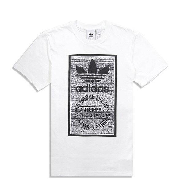 【ESTS】AdidasOriginalsLogoTeeCE2245三葉草短袖短Tee男款白灰I0516