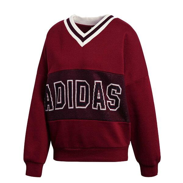 【ESTS】AdidasAdibreakVarsitySweaterCE2282大學Tee女酒紅I0118