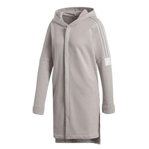 【ESTS】AdidasAdibreakLongHoodieCE4165長版連帽外套女款米灰I0118