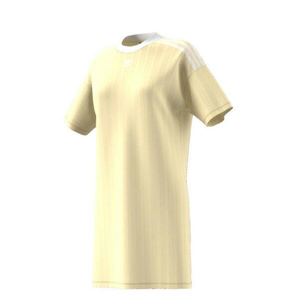 【ESTS】AdidasTrefoilDressCE5589長版洋裝連身裙范冰冰女款米黃I0605