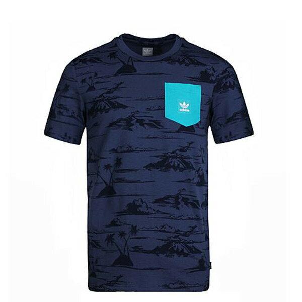 【ESTS】AdidasOriginalsCF3106熱帶雨林口袋Tee藍I0612