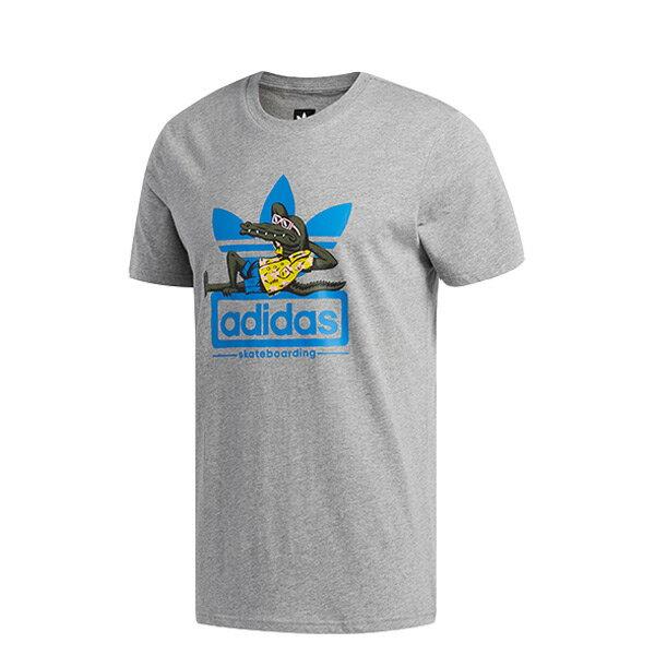 【ESTS】AdidasLaidOutTeeCF3117鱷魚日光浴短袖短Tee男款灰I0516