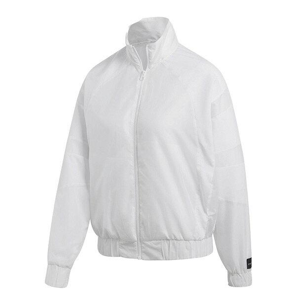 【ESTS】AdidasEQTTrackJacketCF6376拼接立領外套女款白I0205