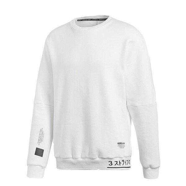 【ESTS】AdidasNMDCrewSweatshirtCV5814刷毛條紋大學Tee白I0118