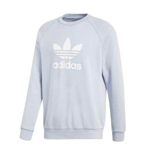 【ESTS】AdidasOriginalsTrefoilCrewCV8643大學Tee男款淡藍色I0205