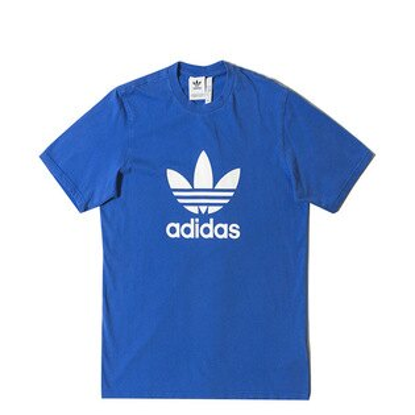 【ESTS】AdidasTrefoilTeeCW0703三葉草短Tee藍I0612