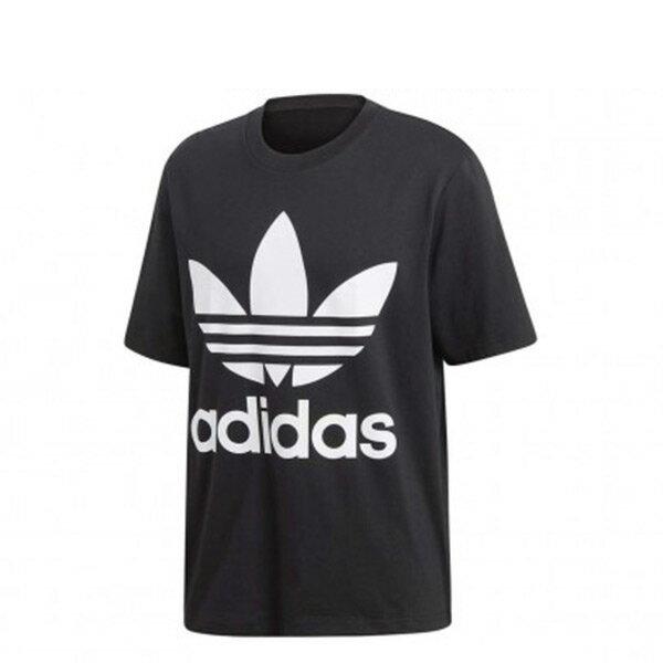 【ESTS】AdidasOriginalsTrefoilOversizeTeeCW1211短Tee男款黑白I0709