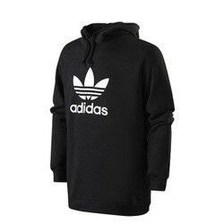 【EST S】Adidas Trefoil Hoodies CW1240 寬版 長袖帽Tee 男款 黑 I0118