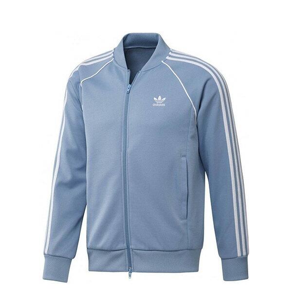 【ESTS】AdidasOriginalsJacketCW1258復古立領運動外套男款水藍I0605