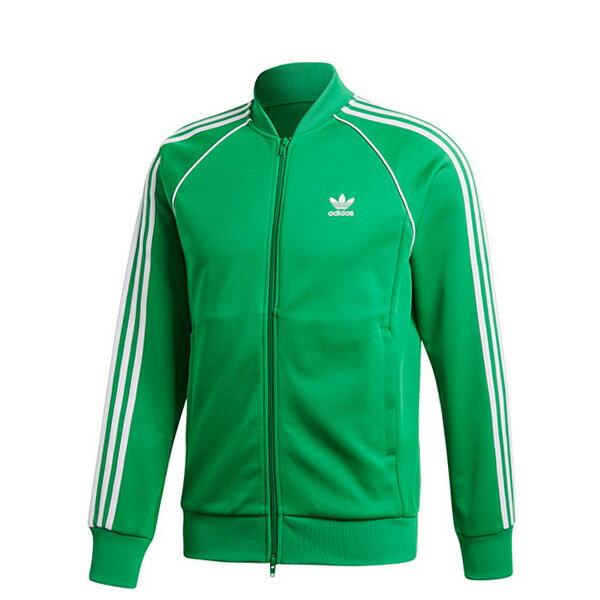 【ESTS】AdidasOriginalsJacketCW1259復古立領運動外套男款綠I0605