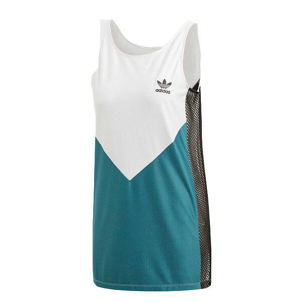 【ESTS】AdidasOriginalsClrdoCY3552拼接側邊網狀透視背心女款白綠I0305