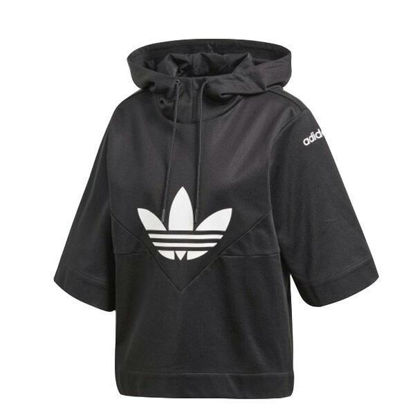 【ESTS】AdidasOriginalsCY3563斗篷短袖寬袖連帽帽Tee女款黑I0305