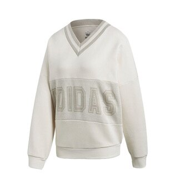 【ESTS】AdidasAdibreakVarsitySweaterCY3660大學Tee女款米白I0118