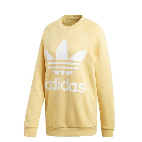 【ESTS】AdidasAdicolorSweaterCY4758長袖大學Tee女款鵝黃I0118