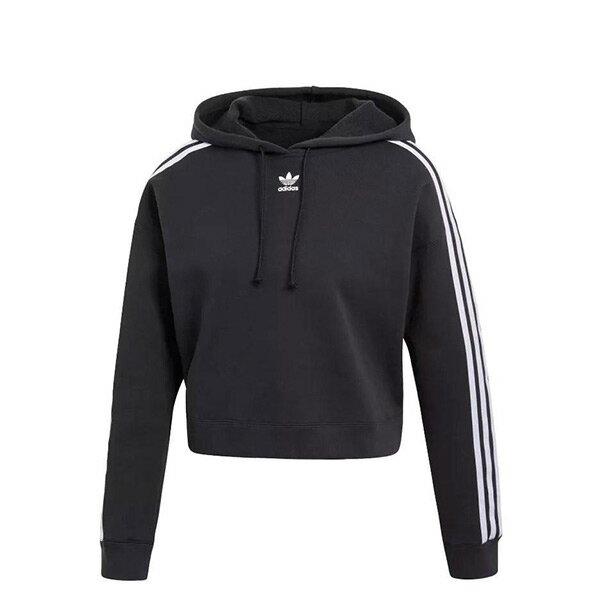 【ESTS】AdidasOriginalsCroppedHoodieCY4766短版帽Tee女款黑I0828