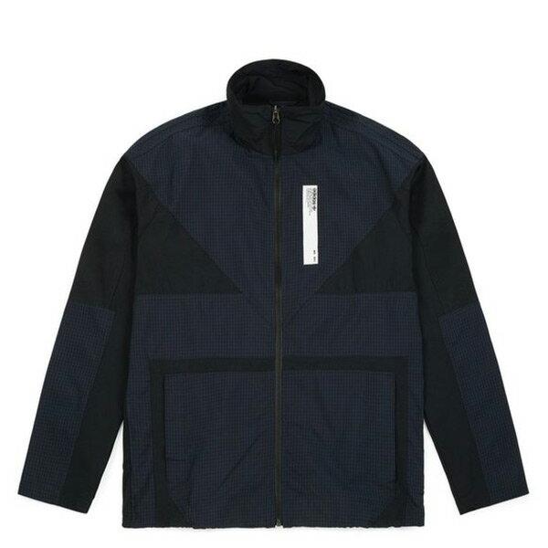 【ESTS】AdidasNMDTrackJacketDH2257格紋拼接立領外套黑藍I0828