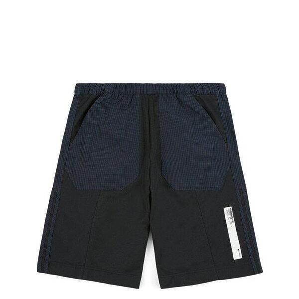 【ESTS】AdidasOriginalsNMDShortsDH2265格紋拼接短褲男款黑藍I0828