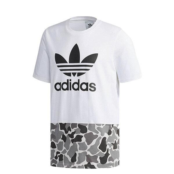 【ESTS】AdidasGraphicTeeDN8034拼接迷彩休閒短Tee白I0612