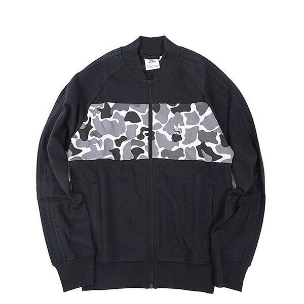 【ESTS】AdidasOriginalsSweatshirtDN8035拼接立領外套黑迷彩I0828