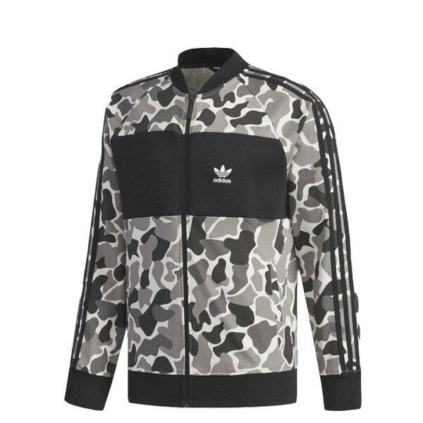 【ESTS】AdidasOriginalsSweatshirtDN8036拼接立領外套迷彩I0828