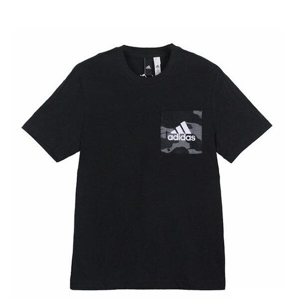 【EST S】Adidas Essentials Tee S98758 口袋 印花 迷彩 短Tee 黑 H0717