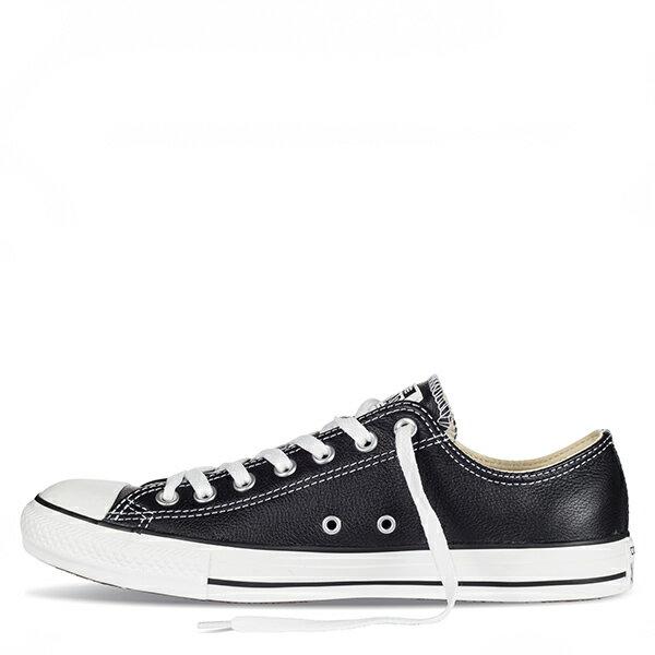 【EST S】Converse Chuck Taylor Leather 低筒荔枝皮 黑白 G1118