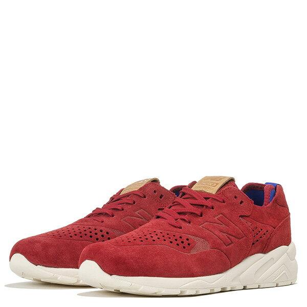 【EST S】New Balance MRT580DR 麂皮 皮革 無縫線 慢跑鞋 男鞋 紅 G1018 1