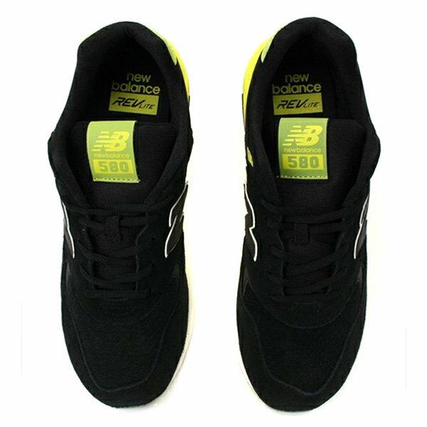【EST S】New Balance MRT580UG 反光 果凍底 麂皮 慢跑鞋 男鞋 黑黃 G1018 2