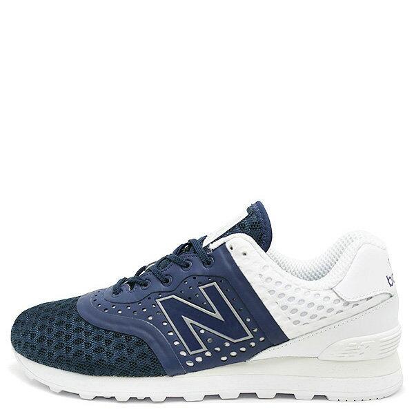 【EST S】New Balance 574系列 MTL574MN D楦 反光復古慢跑鞋 藍白 男鞋 G1125
