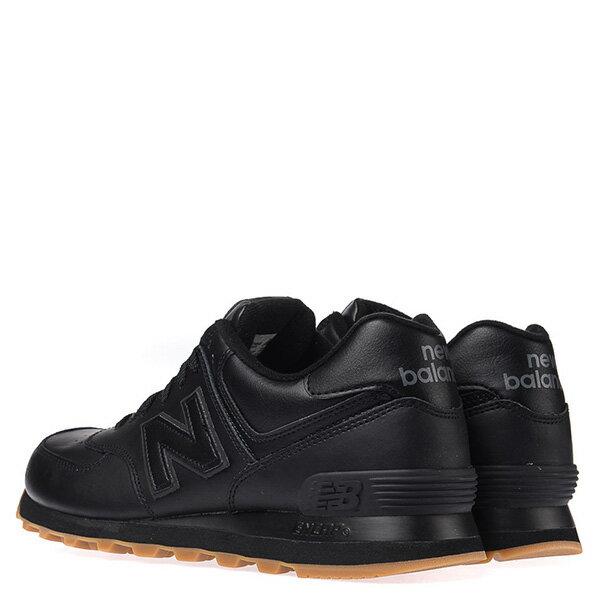 【EST S】New Balance NB574BAB 皮革 膠底 復古 慢跑鞋 男鞋 黑 G1018 3