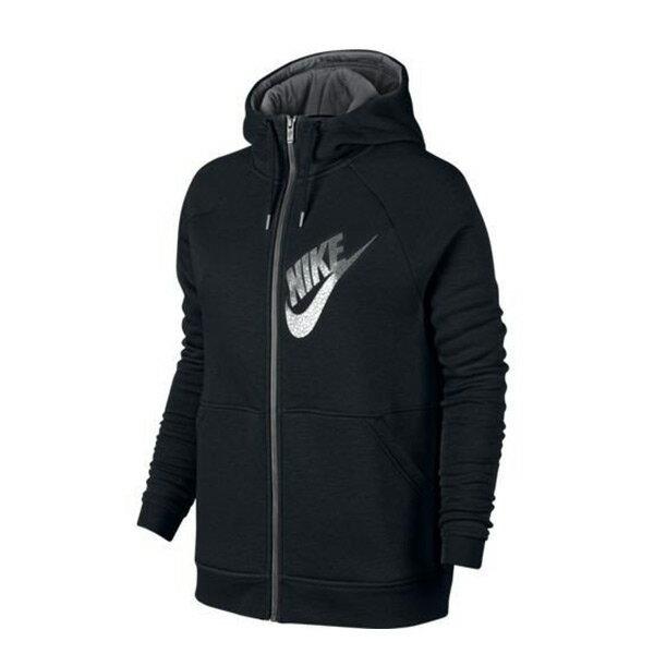 【EST S】Nike Hoodie Fz Gx1 829629-010 刷毛 連帽 外套 女款 黑 G1119