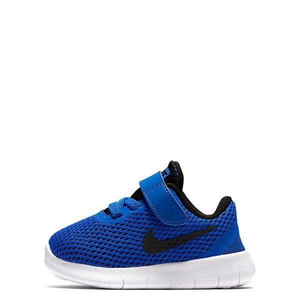 ~EST S~Nike Free Rn Btv 透氣輕量 鞋 藍白黑勾 小童鞋 G1116