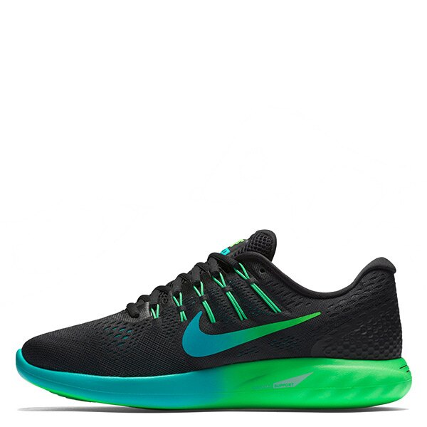【EST S】Nike Lunarglide 8 843725-003 慢跑鞋 黑綠 男鞋 G1116