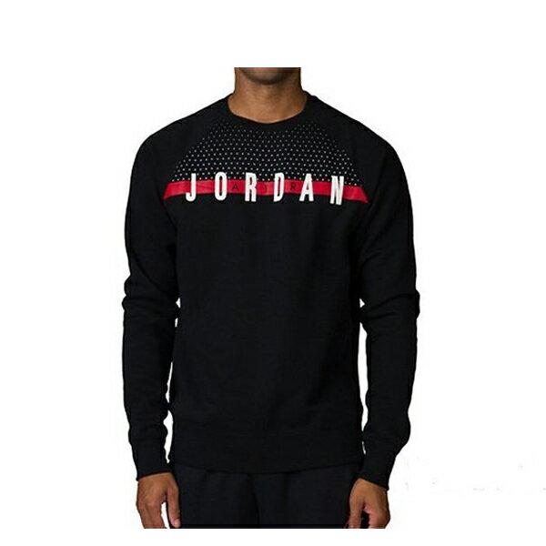 【EST S】Nike Jordan Graphic Crew 845390-010 刷毛 大學Tee黑紅 G1117