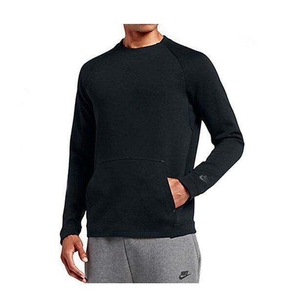 【EST S】Nike Tech Fleece 805141-010 棉質 長Tee黑色 H0112