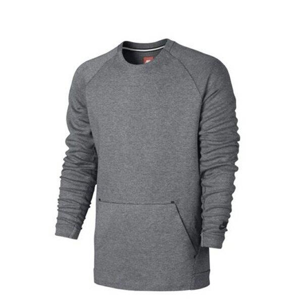 【EST S】Nike Tech Fleece 805141-091 棉質 長Tee灰色 H0112
