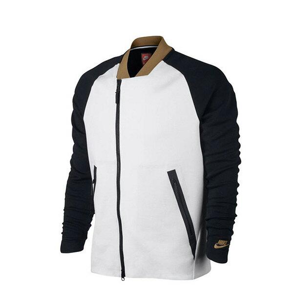 【EST S】Nike Tech Fleece 832115-100 拉鍊 棒球外套 黑白 H0112