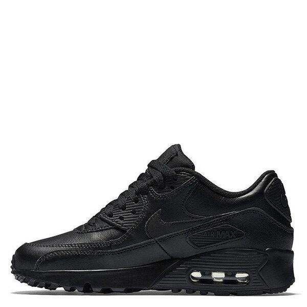 【EST S】Nike Air Max 90 GS 833412-001 慢跑鞋 女鞋 全黑 H0428