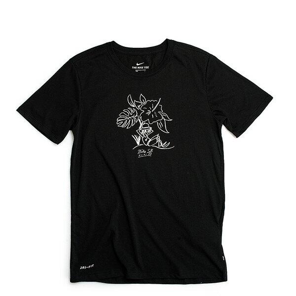 【EST S】Nike SB Dry Tee 841553-010 花卉 滑板 短Tee 黑 H0602