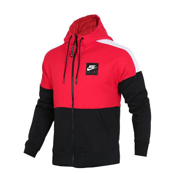 【ESTS】NikeNswHoodieAirFZ886045-657連帽運動外套刷毛紅黑I0201