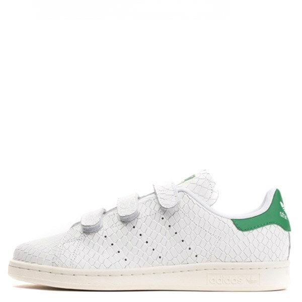 【EST S】Adidas Stan Smith Cf S32171蛇紋魔鬼氈休閒鞋 白綠 G1026