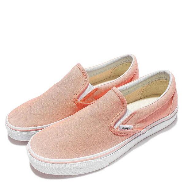 【EST S】Vans Classic Slip-On 71010842 帆布 經典 懶人鞋 粉橘 女鞋 H0809