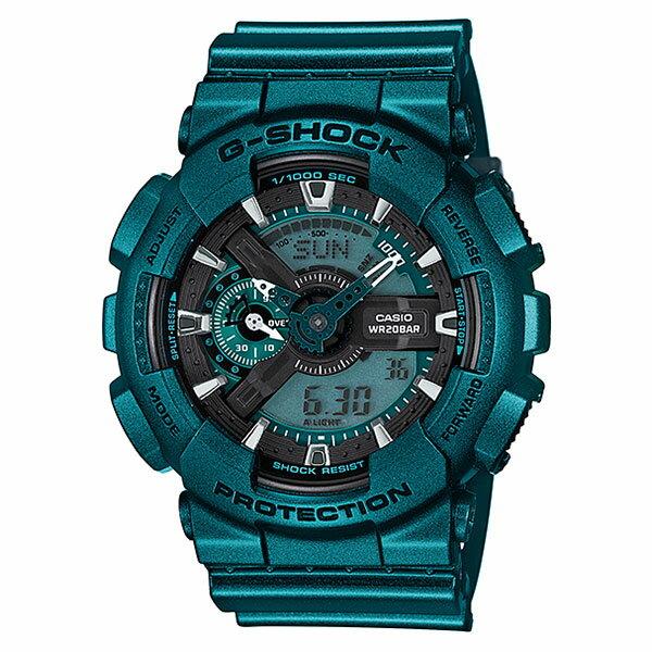 【EST O】G-Shock 夏季 金屬色 潮流 雙顯 大錶面 手錶 綠 F0715 - 限時優惠好康折扣