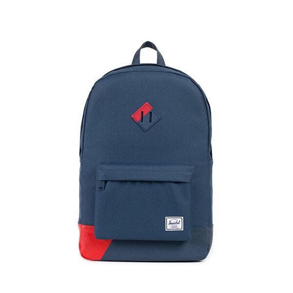 【EST】Herschel Heritage 豬鼻 15吋電腦包 後背包 拚色 藍紅 [HS-0007-764] F0810 0