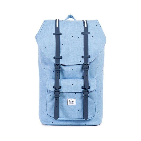 【EST】Herschel Little America 15吋電腦包 後背包 點點 淺藍 [HS-0014-757] F0810 0